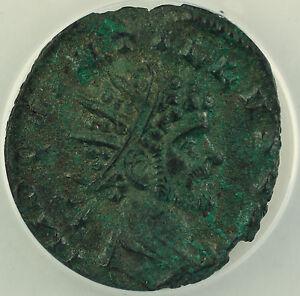 AD 270 Roman Antoninianus Billon Coin Quintillus Milan Mint ANACS AU-55 AKR
