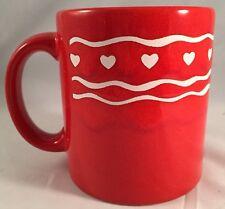 Waechtersbach red heart mug coffee cup 10 oz love Valentine West Germany Vintage