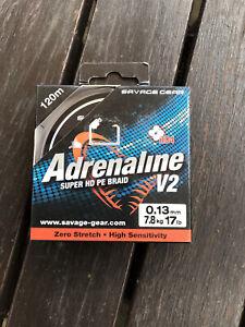 Savage Gear Adrenaline 17lb Super HD PE Braid New