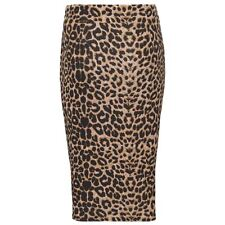 WOMEN'S LADIES PRINTED STRETCHY PENCIL BODYCON WIGGLE MIDI SKIRT PLUS SIZE 8-26