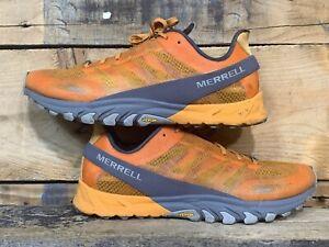 Merrell MTL Cirrus Trail Running Orange Gray Shoes Men's Size 11.5 US 46 EU