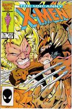 Uncanny X-Men 213 Wolverine vs Sabertooth