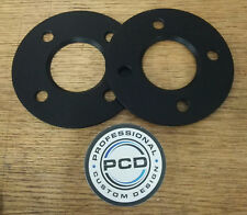 Pair of BLACK 4x100 Shim Spacers, 5mm Wide 57.1 CB VW, AUDI, SKODA UK Made