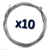 10 x Jagwire Slick Stainless MTB Brake Cables 1.5mm x 2000mm for SRAM Shimano