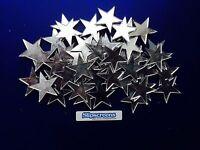 50 x 5cm MIRROR ACRYLIC STARS, MADE IN UK, NEW