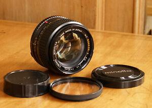 Minolta 50mm f/1.4 1.4 Rokkor-X PG Prime Lens Minolta MC ..Excellent Condition..