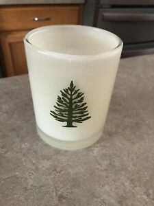 Thymes Frasier Fir Aromatic Candle 9.5 oz lit twice over 2/3 remains