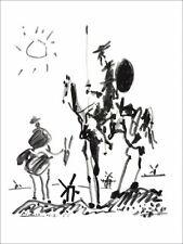 """Pablo PICASSO - Lithographie """"Don Quichotte"""" 65x50cm"""
