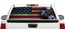Zombie Captain America flag Wrap rear window graphics Decal Sticker 66'' x 22''