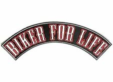 BIKER FOR LIFE Black Red Motorcycle MC Club Biker Vest NEW Back Patch LRG-0521