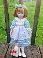 Vintage Porcelai Alice in Wonderland Doll w/Rabbit-Royal Heirloom Collection-14""