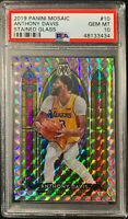 2019 Mosaic ANTHONY DAVIS Stained Glass GEM MINT PSA 10 - LOW POP - SP - LAKERS