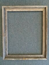 """Picture Frame 14x18"""" Wood- Rustic Gray Color, Unfinished Distressed Barnwood"""
