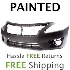 Fits: 2013 2014 Nissan Altima Sedan Front Bumper PAINTED NI1000285
