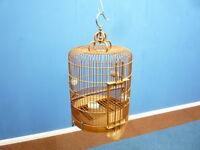Seltener und sehr schöner Vogelkäfig aus China 50er Jahre Handarbeit