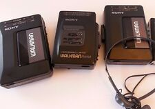 Vintage Sony Walkman FM AM Cassette Lot Not Working for Parts WM F2015 FX33 W08