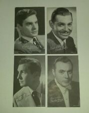 1950's EXHIBIT ARCADE Card Movie Stars LOT of 4 Clark Gable Vincent Price Boyer