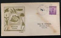 1942 Columbia SC USA Army Air Base  Patriotic Cover To York PA Military Cancel