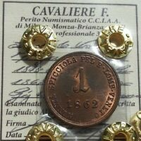 REGNO LOMBARDO VENETO, centesimo 1862 (Vienna) Per. Cavaliere FDC