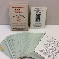 VTG‼ 1983 Aleister Crowley Thoth Tarot Card Deck OTO Cards Belgium Us Games EUC‼