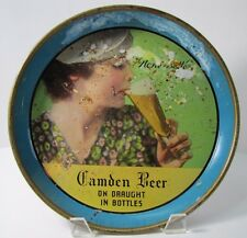 Old Camden Beer Advertising Tray 'None Better' on draught in bottles beauty sips