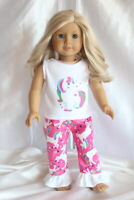 Dress Outfit fits 18inch American Girl Doll Clothes Unicorn Hearts Lot B