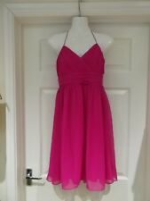 DEFINITIONS Dress Hot Pink Halter Neck Evening/Prom/Party Wear UK Size 10