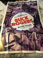 Vintage 1966 Movie Poster Buck Rogers Movie Poster Buster Crabbe