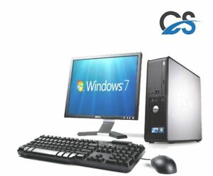 FULL DELL DUAL CORE DESKTOP TOWER PC & TFT COMPUTER WITH WINDOWS 7 & WIFI & 4GB