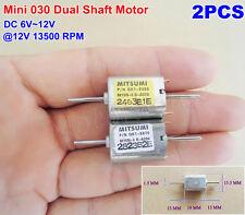 2PCS DC 6V 12V 13500RPM Dual Shaft Mini Motor Strong Magnetic 030 Motor Toy DIY