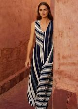 Phase Eight Shania Stripe Maxi Maxi Dress Navy/Ivory Size UK12 RRP89