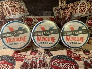 3 VALVOLINE OILS T-SHIRTS JUST ADD WATER PROMO ITEM FOR THEIR 150 YEARS