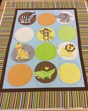 Baby Jungle Animaux Panneau par Bethany Berndt-SHACKELFORD - 100% Coton Tissu