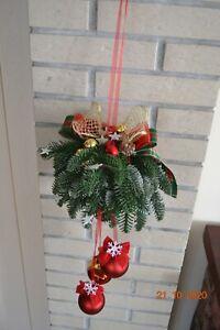 Adventsgesteck Weihnachtsgesteck Weihnachten Kunstblumen