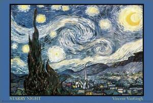 Starry Night - Van Gogh Poster 36in x 24in