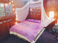 Ombre Mandala Printed Twin Size Duvet Cover Throw Cotton Hippie with 2 PC Pillow