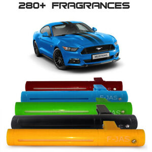 Car Freshener Vent Clip + 10ml Refill, 5 Colors for Ford Mustang. STRONG Scents