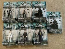 The Matrix Action Figures Lot- Neo x2, Morpheus, Trinity, Switch, Cypher, Smith