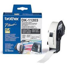 10 Brother DK-11203 DK11203 White File Folder Labels - 17mm x 87mm, 300 labels