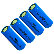 4x ICR 18500 Lithium Battery 1400mAh 3.7V Li-ion Rechargeable Batteries Cell