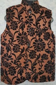 Waistcoat  Made by Jamawar Cloth for Kids / Gents(Free Post in UK)