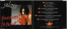 MAXI CD ALIZEE J'EN AI MARRE I'M FED UP 6 TITRES ECRIT PAR MYLENE FARMER TBE