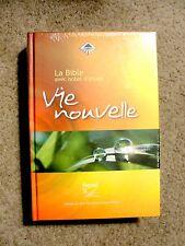French Study Bible, Segond 21, La Bible Vie Nouvelle, Hardcover Orange-Yellow