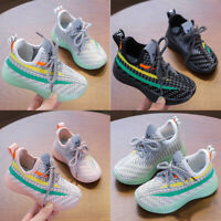 Kids Boys Girls Shoes Baby Child Casual Athletic Running Sport Trainers Sneakers