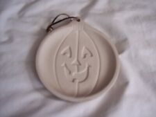 Hermitage Pottery Jack O Lantern Halloween Cookie Mold Pumpkin