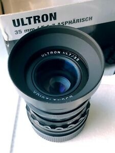 Voigtlander 35mm f1.7 ULTRON M-mount Fixed Wide Prime Lens BOXED - NEAR MINT