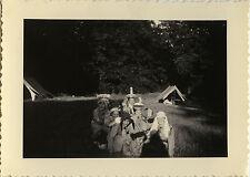PHOTO ANCIENNE -VINTAGE SNAPSHOT-SCOUTISME SCOUT JEANNETTE COIFFE CATHERINETTE 2