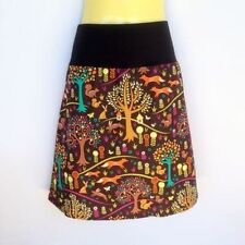 Animal Print A-Line Machine Washable Knee-Length Skirts for Women