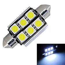 2X 39mm 6SMD LED 239 272 CANBUS NO ERROR XENON WHITE NUMBER PLATE LIGHT #tre
