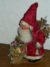 alter Weihnachtsmann/Nikolaus/Santa Claus mit Zubehör (Tolle Deko!) ca. 30cm